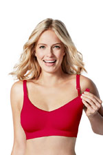 Bravado Body Silk Seamless Nursing Bra (Cherry Red) by Bravado