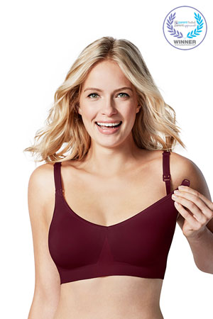 Bravado Body Silk Seamless Nursing Bra (Garnet) by Bravado