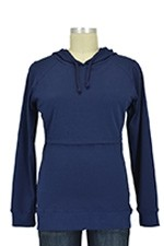 B-Warmer Knitted Nursing Hoodie (Navy) by Boob