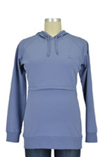 Boob B-Warmer Organic Knitted Nursing Hoodie (Steel Blue) by Boob