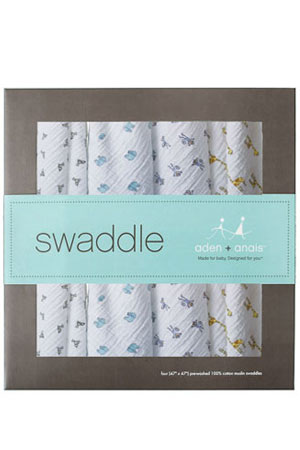 Australian Muslin Swaddling Wraps - 4 Pack by Aden & Anais