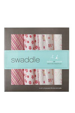 Australian Muslin Swaddling Wraps - 4 Pack (Princess Posie) by Aden & Anais