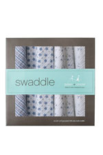 Australian Muslin Swaddling Wraps - 4 Pack (Prince Charming) by Aden & Anais