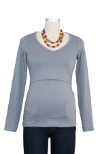 Momzelle Long Sleeve V-Neck Nursing Top by Momzelle