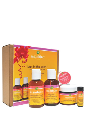Mambino Organics Bun in the Oven Kit for Expecting Mom-To-Be, 5 pc. Set by Mambino Organics
