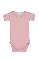 L'ovedbaby Short-Sleeve Baby Girl Bodysuit (Think Pink) by L'ovedbaby