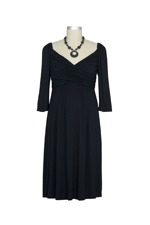 Penelope Cross Sheared Nursing Dress (Black) by Maternal America