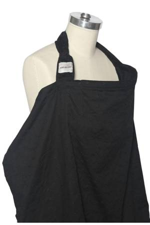 Bebe Au Lait Cotton Nursing Cover (Eyelet Black) by Bebe au Lait