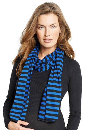 Madison Nursing Scarf (Fall & Winter Weight) (Blue Stripes) by Maternal America