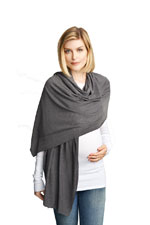 Madison Nursing Scarf (Fall & Winter Weight) (Heather Charcoal) by Maternal America