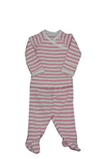 Under the Nile Organic Layette Set (Wide Rose Stripe) by Under the Nile