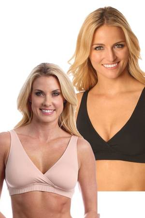 Majamas Easy Bra - 2 Pack (Toffee & Black) by Majamas