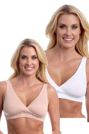 Majamas Easy Bra - 2 Pack (White & Toffee) by Majamas