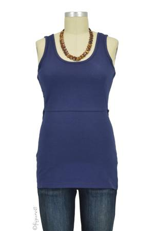 Boob Design Organic Singlet Nursing Top (Navy) by Boob Design
