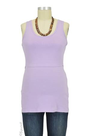 Boob Design Organic Singlet Nursing Top (Mauve) by Boob Design
