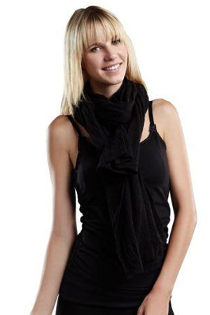 Madison Nursing Scarf (Summer Weight) (Black) by Maternal America