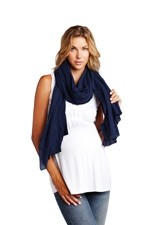 Madison Nursing Scarf (Summer Weight) (Navy) by Maternal America