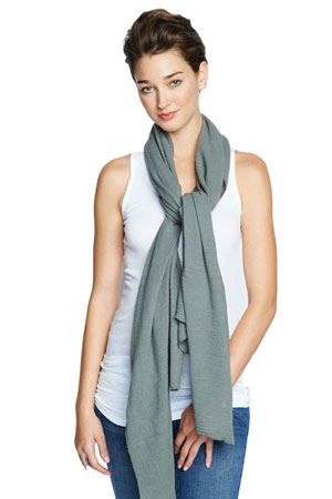 Madison Nursing Scarf (Summer Weight) (Olive) by Maternal America
