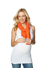 Madison Nursing Scarf (Summer Weight) (Orange) by Maternal America