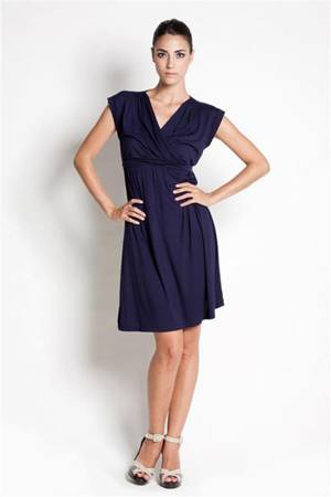 Belle Nursing Dress (Navy) by Dote