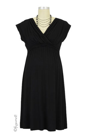 Belle Nursing Dress (Black) by Dote