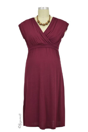 Belle Nursing Dress (Wine) by Dote
