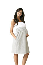 Maternal America Empire Seersucker Maternity Dress by Maternal America