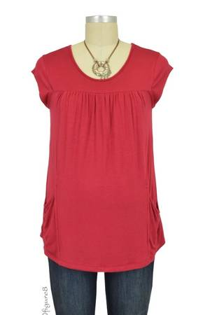 Fiona Pocket Nursing Top (Red) by Dote