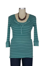Kerri Striped Nursing Henley by 1 in the Oven