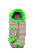 7 AM Enfant Blanket 212 Evolution (Beige/Neon Green) by 7 A.M. Enfant