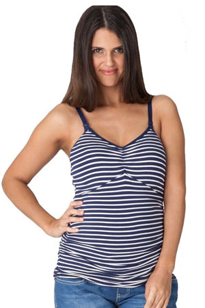 Ripe Ultimate Express Nursing Tank (Navy & White Stripes) by Ripe Maternity