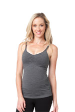 Ripe Ultimate Express Nursing Tank (Dark Charcoal Marle) by Ripe Maternity