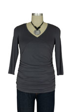 Cynthia Wrap-Ruched Nursing Top by Maternal America