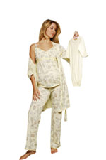 Olian 4-pc Nursing PJ Set by Olian