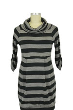 Zara 3/4 Sleeve Knit Maternity Tunic Sweater (Black/Grey) by Jules & Jim