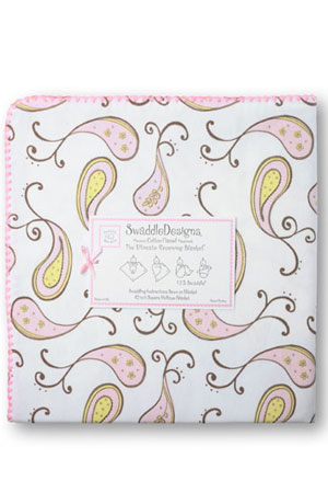 Swaddle Designs Ultimate Receiving Blanket (Pastel Pink Paisley) by SwaddleDesigns