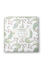 Swaddle Designs Ultimate Receiving Blanket (Kiwi Paisley) by SwaddleDesigns