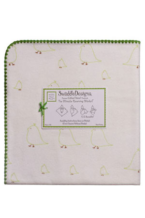 Swaddle Designs Ultimate Receiving Blanket (Kiwi Chickies) by SwaddleDesigns