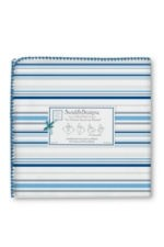 Swaddle Designs Ultimate Receiving Blanket (True Blue Stripes) by SwaddleDesigns