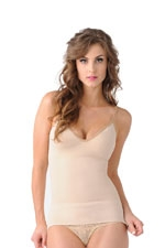 Mother Tucker™ Compression V-Neck Tank Top (Nude) by Belly Bandit
