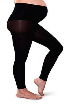 Preggers Footless Compression Maternity Tights (Black) by Preggers Maternity Hosiery