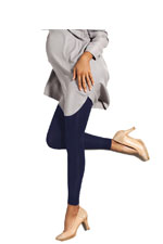 Preggers Footless Compression Maternity Tights (Navy) by Preggers Maternity Hosiery