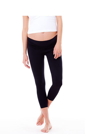 Ingrid & Isabel Capri Belly Leggings (Black) by Ingrid & Isabel