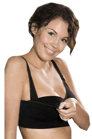 Carriwell Seamless Nursing Bra (Black) by Carriwell