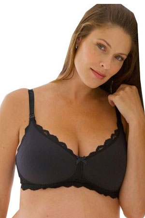 Belabumbum Serena Wireless Nursing Bra (Black) by Belabumbum