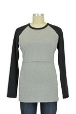Boob B-Warmer B-Ball Nursing Top (Grey Melange & Black) by Boob