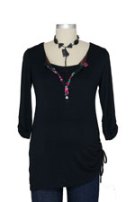 Flora D&A Nursing Henley Tunic by Japanese Weekend