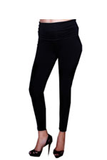 MA Belly Support Maternity Leggings (Black) by Maternal America