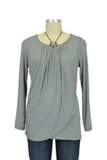 Goddess Drape Nursing Top (Moon Mist) by Mothers en vogue