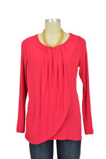 Athena Drape Nursing Top (Rouge) by MEV
